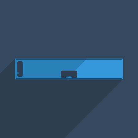 spirit level: Flat icons modern design with shadow of spirit level. Vector illustration
