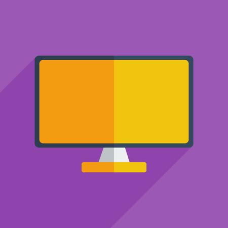 program: Flat icons modern design with shadow of monitor. Vector illustration Illustration