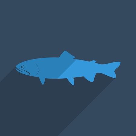Flat icons modern design with shadow of loach. Vector illustration