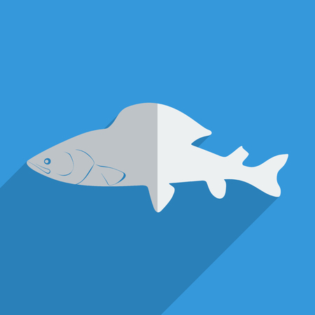 grayling: Flat icons modern design with shadow of grayling. Vector illustration Illustration