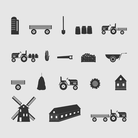 milk products: farm vector image set of new drawing Illustration