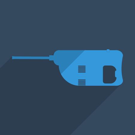 presslufthammer: Flache Symbole modernes Design mit Schatten der Bohrhammer. Vektor-Illustration Illustration