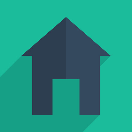 premises: Flat icons modern design with shadow of home. Vector illustration Illustration