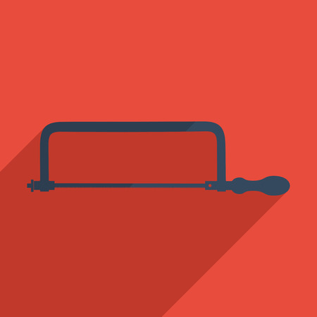 handsaw: Flat icons modern design with shadow of hacksaw. Vector illustration