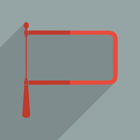 coping: Flat icons modern design with shadow of coping saw. Vector illustration