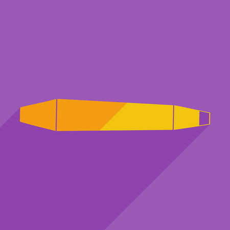 chisel: Flat icons modern design with shadow of chisel. Vector illustration