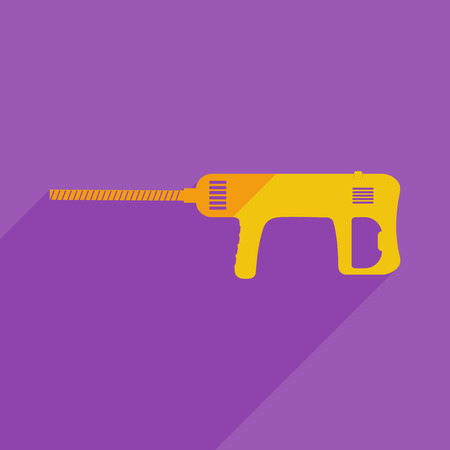 perforator: Flat icons modern design with shadow of perforator. Vector illustration