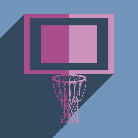 basketball net: Flat icons with shadow of basketball net. Vector illustration