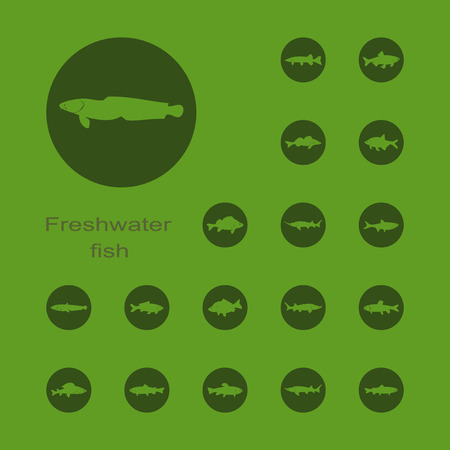 gills: It is a set of plain picture freshwater fish icons