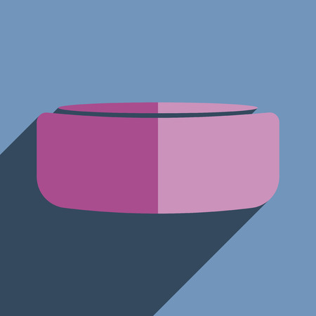 puck: Flat icons with shadow of hockey puck. Vector illustration