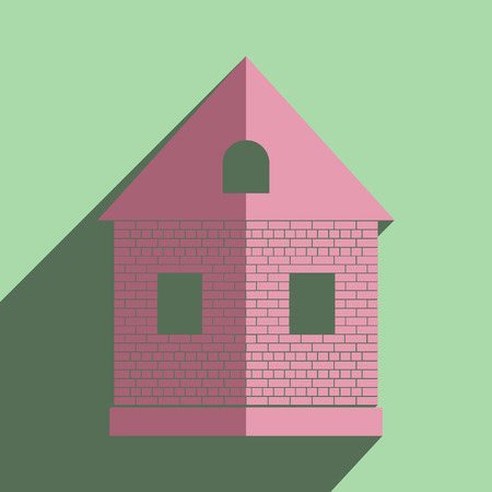 premises: Flat icons with shadow of home.