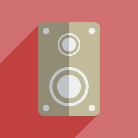 sounding: Flat icons with shadow of amplifier.