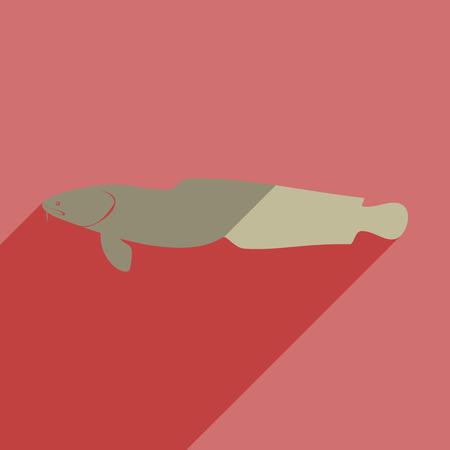 burbot: iconos planos con sombra de bur-bot.