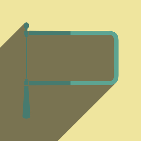 coping: Flat icons with shadow of coping saw. Vector illustration