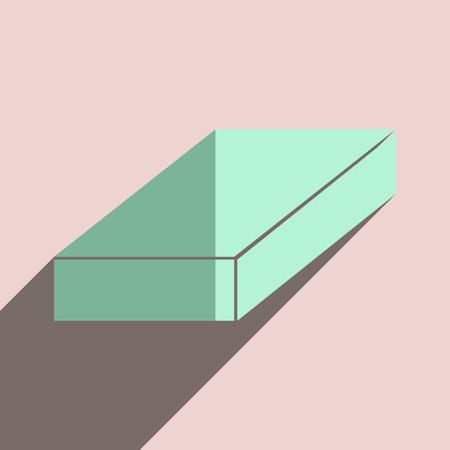 premises: Flat icons with shadow of brick. Vector illustration Illustration