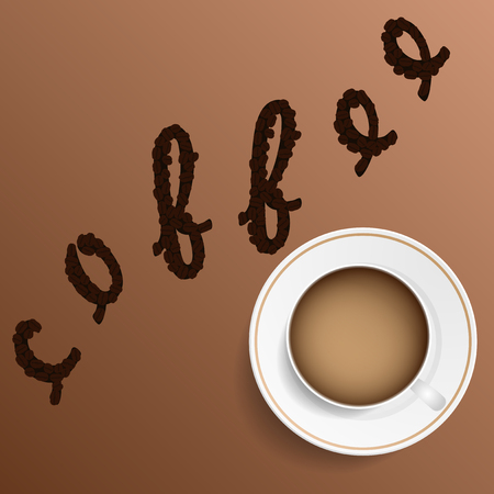 soluble: Coffee. Realistic image of the object. Vector illustration