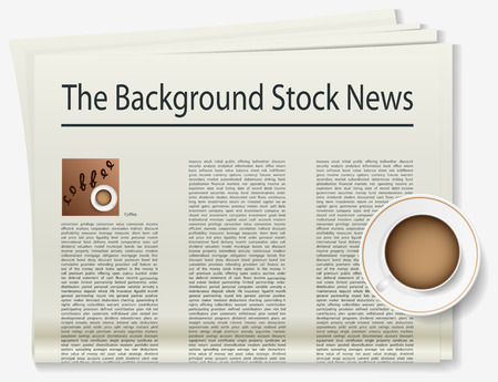 soluble: Coffee. Newspaper. Realistic image of the object. Vector illustration Illustration