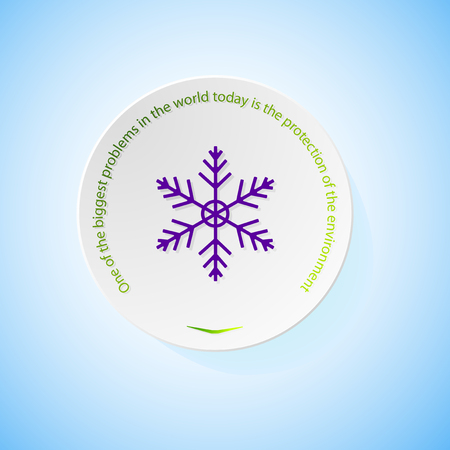 salvation: Environmental icons depicting snowflake with shadow, abstract vector illustration