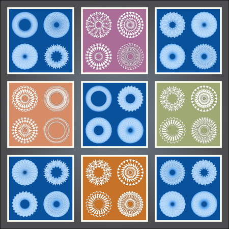 image size: Abstract pattern, created by the rotation of geometric body. Vector illustration