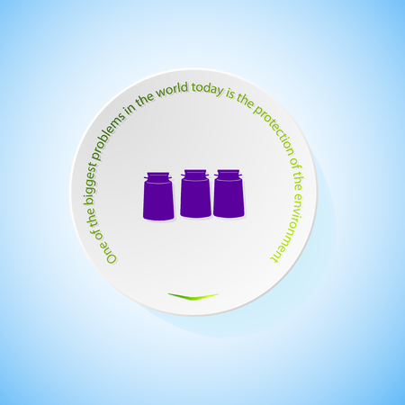 combustible: Environmental icons depicting three cans milk with shadow, abstract vector illustration Illustration