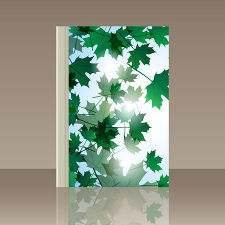 still life: Book autumn still life. Maple leaves. Vector background Illustration