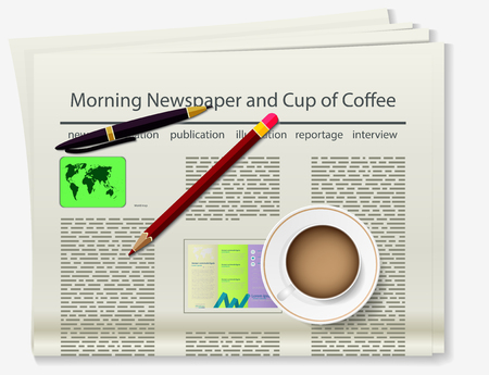 Booklet. Newspaper. Realistic image of the object. Vector illustration