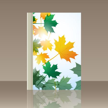 still life: Book autumn still life. Maple leaves.  background