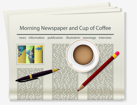 broadsheet: Booklet. Newspaper. Realistic image of the object. Vector illustration