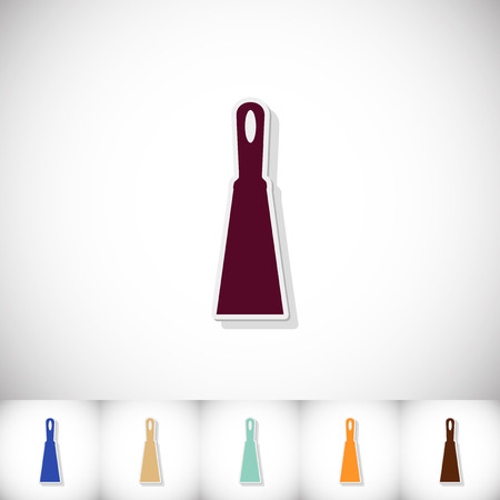 Trowel. Flat sticker with shadow on white background Illustration