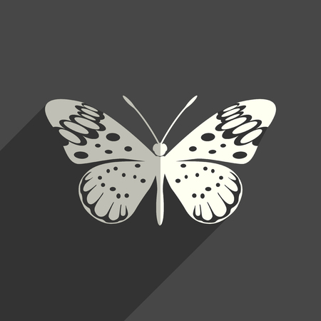 Butterfly flat icons with of shadow. Vector illustration