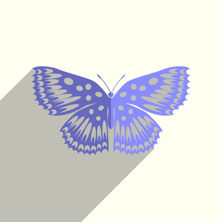 Butterfly flat icons with of shadow. Vector illustration Фото со стока - 84813007