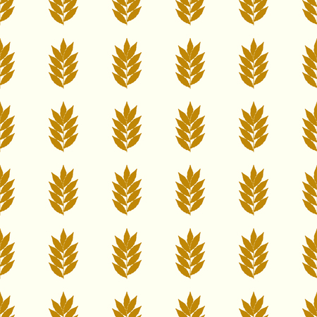 Leaves vector illustration on a seamless pattern background