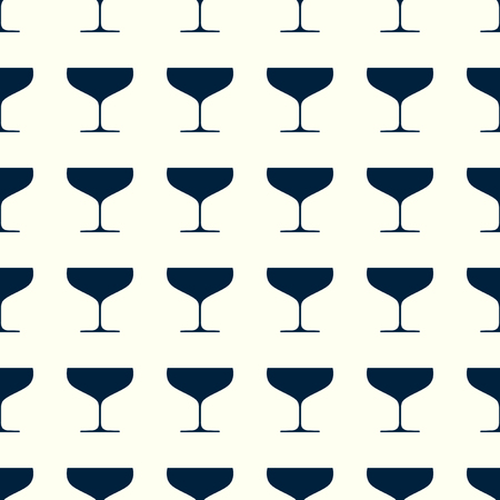 Wineglasses vector illustration on a seamless pattern background Çizim