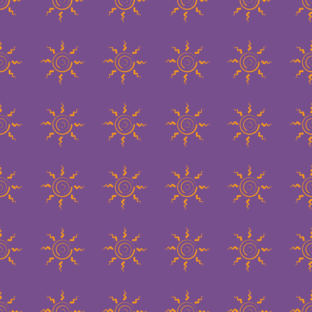 Sun vector illustration on a seamless pattern background