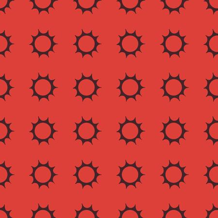 太陽ベクトルのシームレスなパターンの背景イラスト