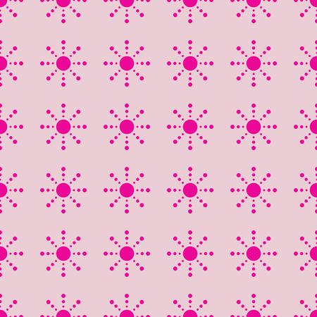 Sun vector illustration on a seamless pattern background