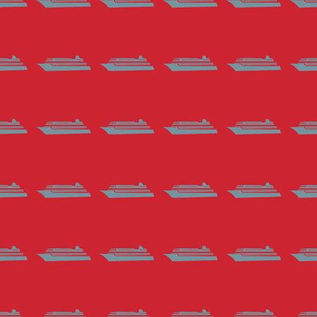 Sea transport vector illustration on a seamless pattern background Ilustração