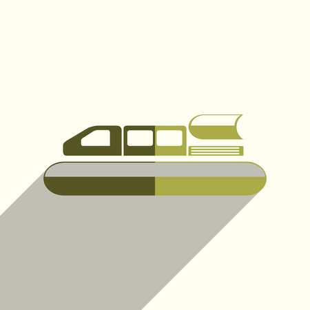 Sea transport flat icons with of shadow. Vector illustration Ilustrace