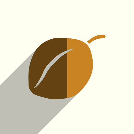 collect: Fruit flat icon with shadow.