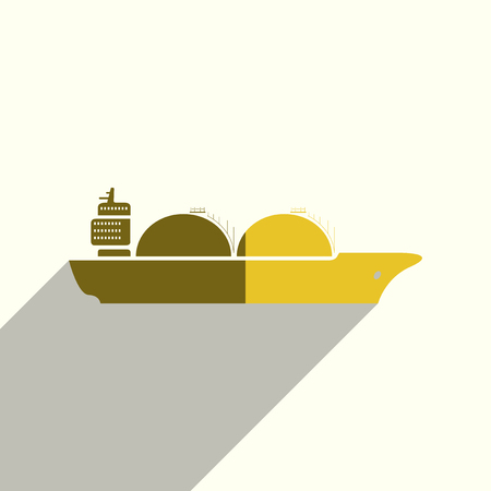 Sea transport flat icons with of shadow.