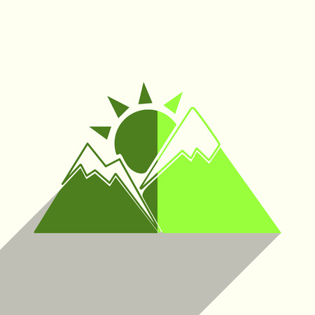 Sun flat icons with of shadow vector illustration.