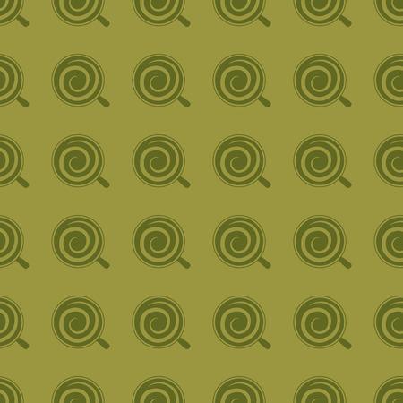 Coffee vector illustration on a seamless pattern background. Иллюстрация