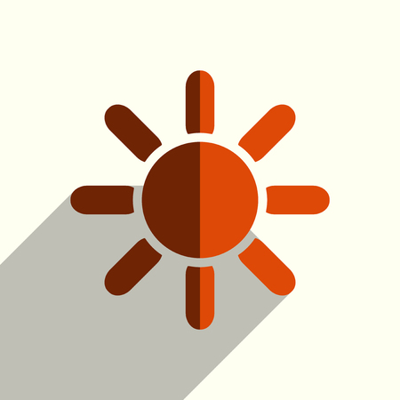 Sun flat icons with of shadow. Simple vector illustration Illustration