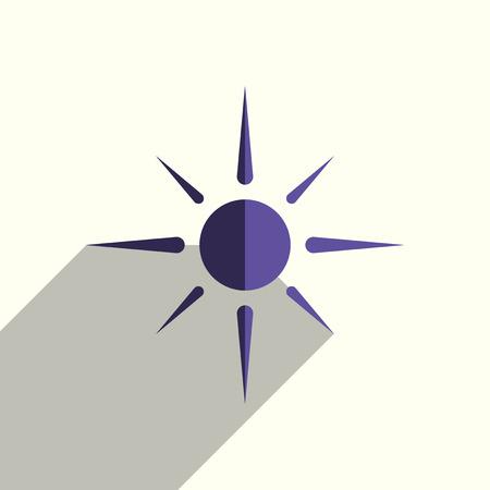 그림자와 태양 플랫 아이콘입니다. 간단한 벡터 일러스트 레이션 일러스트