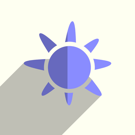 Sun flat icons with of shadow. Simple vector illustration Illusztráció