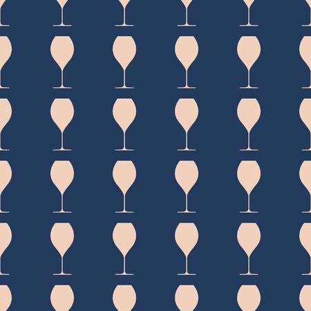 Wineglasses vector illustration on a seamless pattern background Illustration