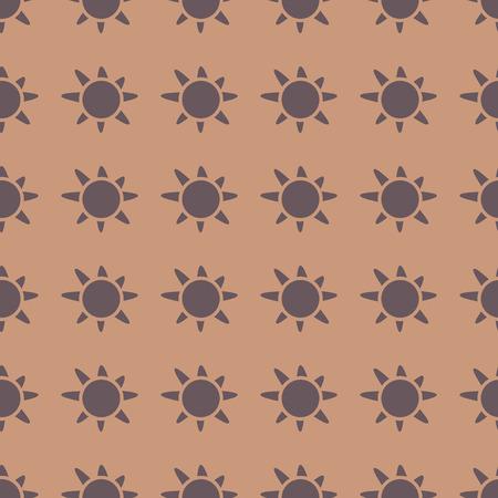원활한 패턴 배경에 태양 벡터 일러스트 레이 션 일러스트