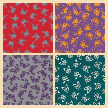 Butterfly pattern illustration.