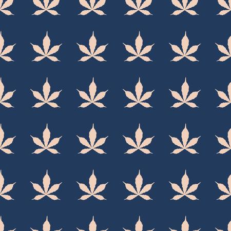 Bladeren vector illustratie op een naadloze patroon achtergrond