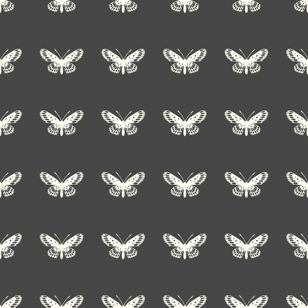 Butterfly illustration on a seamless pattern background Illustration